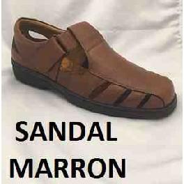 SANDALIA CERRADA MARRON MOD:SANDAL/1
